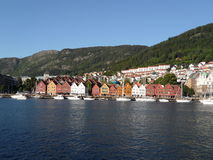 Bergen Norway Shoreline Royalty Free Stock Photo