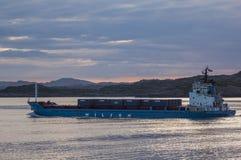 BERGEN/NORWAY - 21ST JUNE 2007  Norweigian coastal freighter Wil Stock Photo