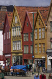 BERGEN/NORWAY 10TH JULY 2006 Classic timber framed buildings of Royalty Free Stock Images