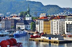 Bergen, Norway. View of Bergen, Norway from the port Stock Photos