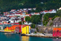 Free Bergen, Norway View With Colorful Houses Stock Photography - 139367692