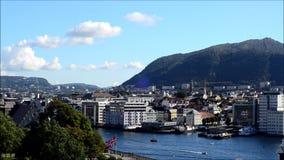 Bergen, Norwegen stock video footage