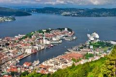 Bergen in Norwegen Stockfotos