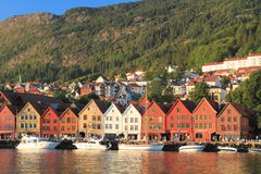 Bergen Norwegian city Royalty Free Stock Images