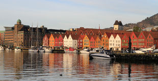 Bergen old town. Old town and harbor Stock Photo