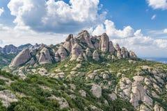 Bergen op Montserrat Stock Foto's