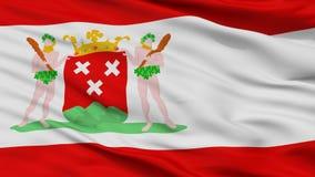 Bergen Op Zoom City Flag, Paesi Bassi, vista del primo piano illustrazione di stock