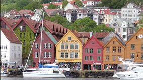 Bergen panorama stock video footage