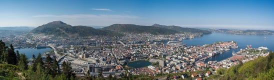 Bergen Panorama, Noorwegen Royalty-vrije Stock Fotografie