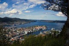 Bergen panorama stock image