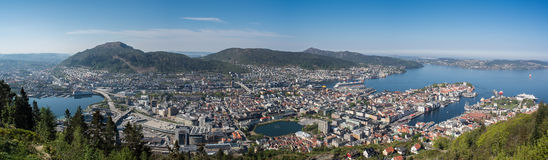 Bergen panorama, Norwegia Fotografia Royalty Free
