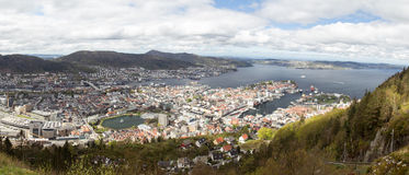 Bergen, panoramatic Royalty Free Stock Image