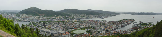 Bergen Panoramic Royaltyfri Bild