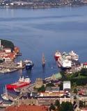 bergen port Obrazy Royalty Free