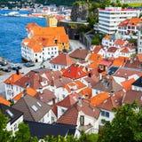 Bergen Rooftops Arkivbilder