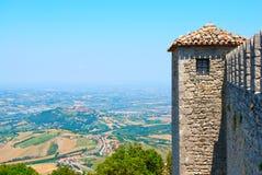 Bergen in San Marino Stock Afbeeldingen