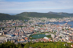 Bergen seen from the hill Royalty Free Stock Photography