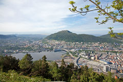 Bergen seen from the hill Royalty Free Stock Image