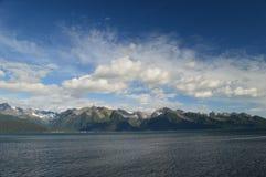 Bergen in Seward, Alaska tijdens de zomer van 2015 Royalty-vrije Stock Fotografie