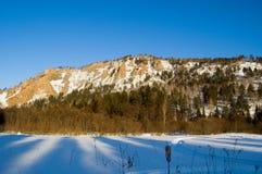 Bergen in Siberië stock foto's