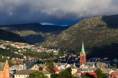 Bergen Skyline Fotografie Stock