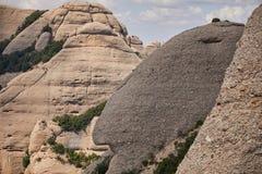 Bergen in Spanje De centrale berg is zeer gelijkaardig aan een man'shoofd in profiel royalty-vrije stock fotografie