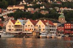 Bergen at sunset Royalty Free Stock Image