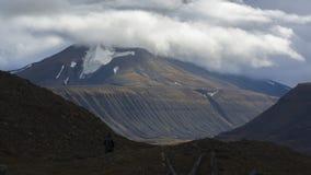 Bergen in Svalbard, Spitzbergen Royalty-vrije Stock Afbeeldingen