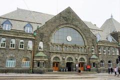 Bergen Train Station Stasjon a cinque cinquanta p M. immagini stock