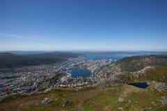 Bergen from Ulriken Stock Photography