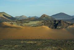 Bergen van brand, Montanas del Fuego, Timanfaya.i Stock Afbeelding
