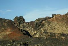 Bergen van brand, Montanas del Fuego, Timanfaya.i Royalty-vrije Stock Foto