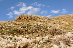 Bergen van de Woestijn van canionnegev in Israël Royalty-vrije Stock Afbeeldingen