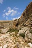 Bergen van de Woestijn van canionnegev in Israël Stock Foto's