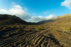 Bergen van Fuerteventura op gebied Jandia Stock Afbeeldingen