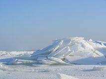 Bergen van gebroken ijs Stock Afbeelding