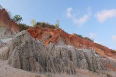 Bergen van gekleurd zand royalty-vrije stock foto