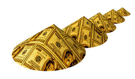 Bergen van geld Stock Foto's