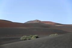 Bergen van het Nationale Park Lanzarote van Brandtimanfaya Royalty-vrije Stock Afbeeldingen