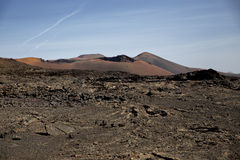 Bergen van het Nationale Park Lanzarote van Brandtimanfaya Stock Foto's