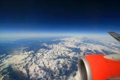 Bergen van het vliegtuig Royalty-vrije Stock Foto