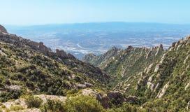 Bergen van Montserrat Stock Afbeeldingen