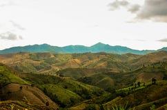 Bergen van noordelijk Thailand Stock Foto