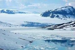 In bergen van Noorwegen Stock Afbeelding