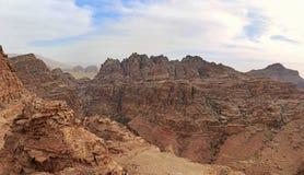 Bergen van Petra, in Jordanië Stock Afbeelding