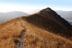 Bergen van westelijk Tien Shan in Augustus Royalty-vrije Stock Foto