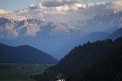Bergen van Zuid-Tirol Stock Afbeeldingen