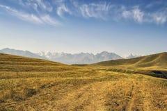 Bergen van zuidelijk Kyrgyzstan Royalty-vrije Stock Foto