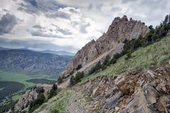 Bergen van zuidelijk Kyrgyzstan royalty-vrije stock afbeelding