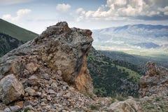 Bergen van zuidelijk Kyrgyzstan Royalty-vrije Stock Foto's